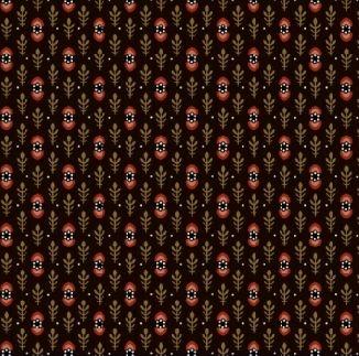 Полосы из колосков на коричневом 0282-0113