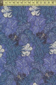 Ашантэ цветы и листья синие 0505-2