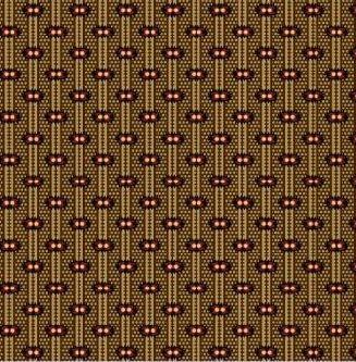 Мелкий рисунок на бежевых мелких полосках 0723-0113