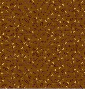 Мелкие колосья на коричневом 0742-0132