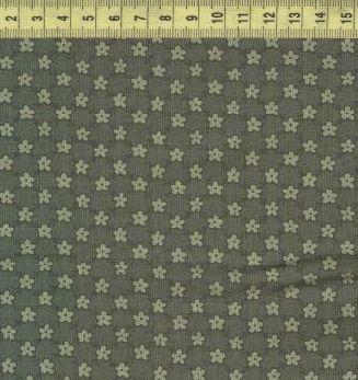 Мелкие цветочки на зеленом 0809-1