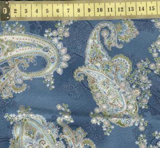 Ла Скала 7 огурцы с золотом на светло синем.