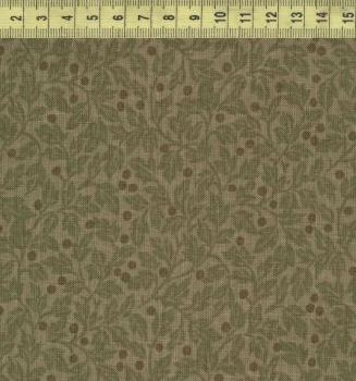 Ягоды с листочками на сером 1032-1