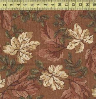 Осенние листья на светло-коричневом 1118-3