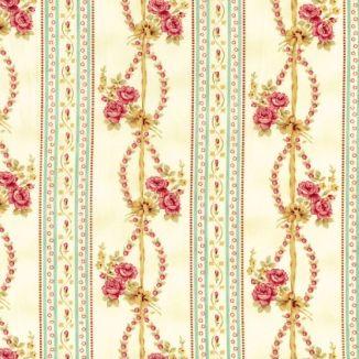 Плетенные розы полосы голубые 1863-001
