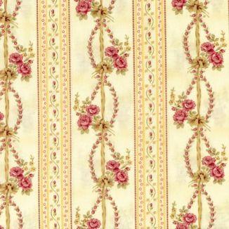 Плетенные розы полосы желтые 1863-003