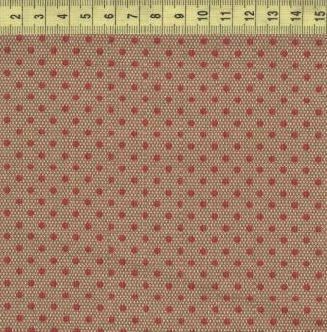 Красный горох на очень мелком коричневом ромбе 30204-08