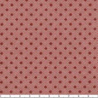 Красный горох на очень мелком розовом ромбе 30204-02