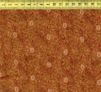 Мелкие цветы на коричневом W35224-4
