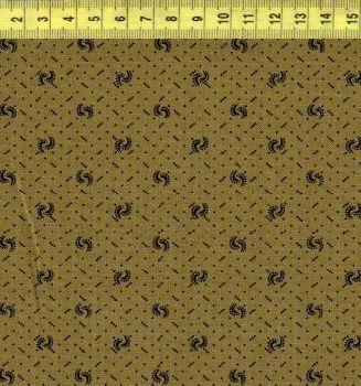 Точки узор на коричнево-зеленом ф. 1702-0116