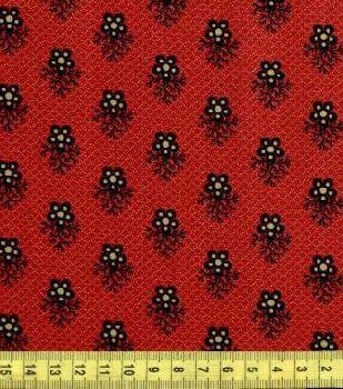 Цветы на бордово-коричневом ф. 1112-0111