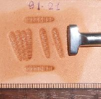 Thumbprint Medium Lined Horizontal #1 91-21