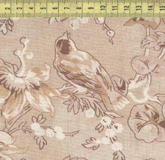 Цветы и птицы на бежевом 98497-222