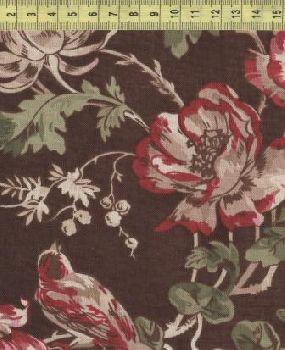 Цветы и птицы на коричневом фоне 98497-273