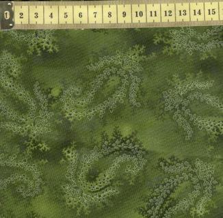 Ла Скала 7 пейсли на зеленом
