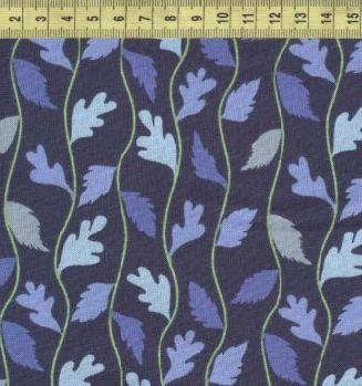 Голубые и синие листья 508-03