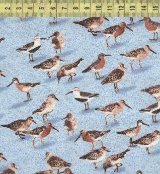 Птицы на голубом W33651-1