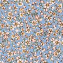 Мелкие цветочки на голубом