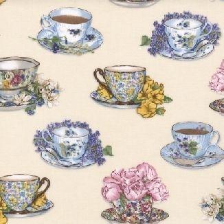 Чашки на кремовом фоне 12861-15