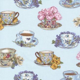 Чашки на голубом фоне 12861-68