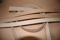 Заготовка для ремня из кожи буйвола 38 мм 120 см сорт 1