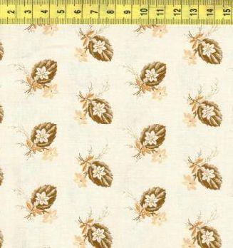 Лист с цветами на светло-бежевом 0211-0113