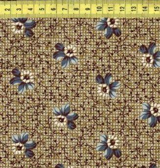 Синие цветы на рогожке 0314-0150