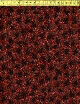 Коричневые листья на точечной росписи N642-004