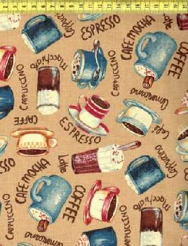 Кофейные чашечки на светло-бежевом N815-021