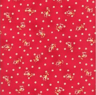 Мелкие цветки шиповника на розовом 1624-002